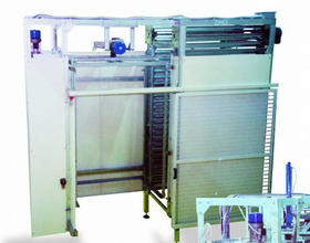 Cabins for unoading trays