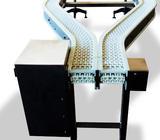 Double modular belt conveyor.